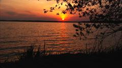 Green Lake Sunset Timelapse Stock Footage