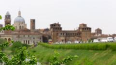 Cityscape of Mantova, Italy. Stock Footage