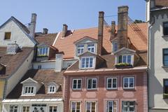 Roofs of Riga Stock Photos