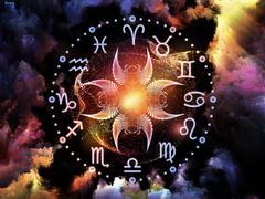 Astrology Backdrop Stock Illustration