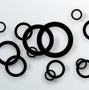 Rings background with shadow couple design Stock Illustration
