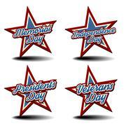Stock Illustration of national holiday stars