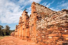 San ignacio-mini mission founded in 1632 by the jesuits, misiones province, a Stock Photos