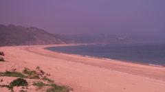 Quiet beach wide_Slapton Sands Stock Footage