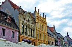 Arhitecture from Brasov - stock photo