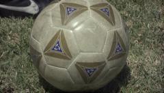 2.5K Soccer Ball Kicked Insert Stock Footage