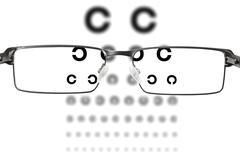 eyesight test - stock photo