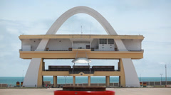 Independence Arch in Accra, Ghana Stock Footage