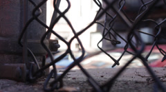 Chain Link Fence - Low Angle Stock Footage