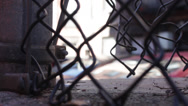 Stock Video Footage of Chain Link Fence - Low Angle