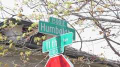 Denver Capitol Hill Street Sign - stock footage