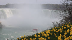 Niagara Falls Spring Tour Stock Footage