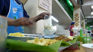 Stock Video Footage of Thai style kway chap stall in Chiangmai, Thailand.(CM--10B)