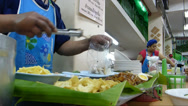 Stock Video Footage of Thai style kway chap stall in Chiangmai, Thailand.(CM--10a)