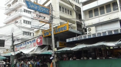 A street at Kad Luang market, the biggest in Chiang Mai, Thailand(CM--5a) Stock Footage