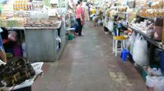 Warorot Market or Kad Luang Chiangmai, Thailand. (CM--22b) Stock Footage