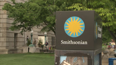 Smithsonian Museum Sign and Building - stock footage