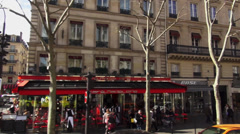 Shopping street in Paris Stock Footage
