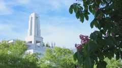 Mormon conference center tight - stock footage