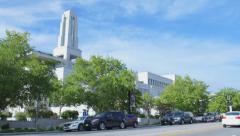Mormon conference center wide  - stock footage