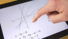 Stock Video Footage of 4K Student Studying Math Tablet