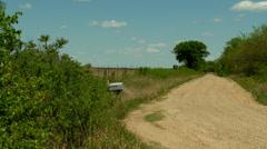 Kansas Flint Hills back road mail box Stock Footage