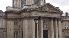 Institute de France French institute Famous buildings of Paris Stock Footage