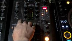 DJ mixer slides up and down, louder to softer Stock Footage