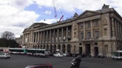 Famous building in Paris at Rue de Rivoli Stock Footage