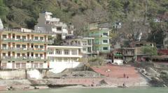 Rishikesh-Ghats Stock Footage