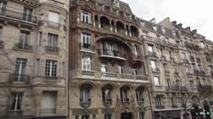 Stock Video Footage of Wonderful Paris mansion typical apartment building in Paris