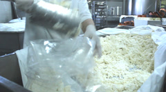 Cheese factory Stock Footage
