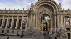 Petit palais museum exhibition hall in Paris famous building - stock footage