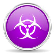 Violet - silver circle web icon Stock Illustration