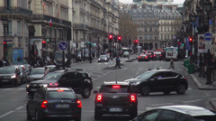 Typical street view in the city of Paris - stock footage