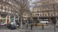 typical street corner in the city of Paris - stock footage