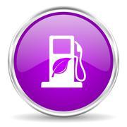 Violet - silver circle web icon Stock Illustration