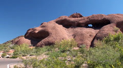 Hole in the Rock at Papago Park. Phoenix, Arizona, USA. Stock Footage