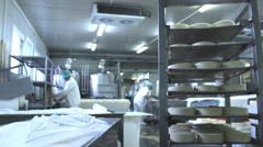 Cheese rolls   factory Stock Footage