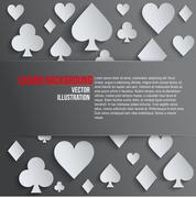 Background paper symbols card suits Stock Illustration