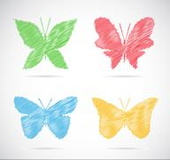 Vector group of butterfly Stock Illustration