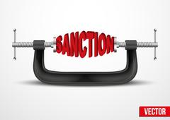 Symbol of Sanctions vector - stock illustration
