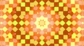 Orange kaleidoscope cubes background, loop. Footage