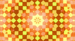 Orange kaleidoscope cubes background, loop. - stock footage