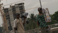 Stock Video Footage of Roadside street sellers / hawkers