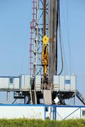 Top drive system oil drilling rig Stock Photos