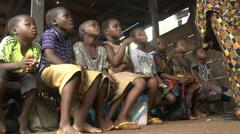 School class in Makoko floating slum Stock Footage