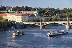 the view on prague's office of goverments - stock photo