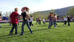 End of school western dance fun HD 0307 Stock Footage