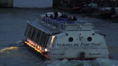 Vedettes du Pont Neuf Sightseeing boat - stock footage
